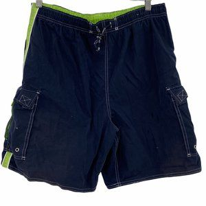 Big Dogs Men's Blue Lined Trunks Board Shorts Draw